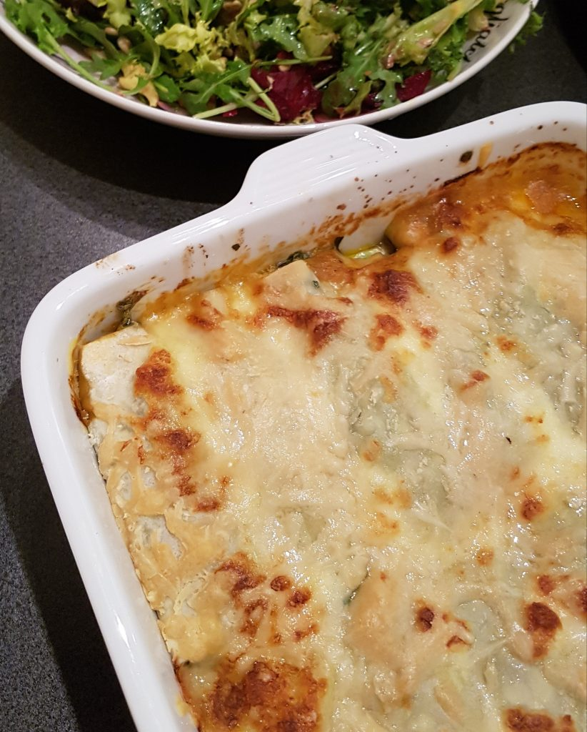 Canneloni&spinazie, ricotta & mozarella