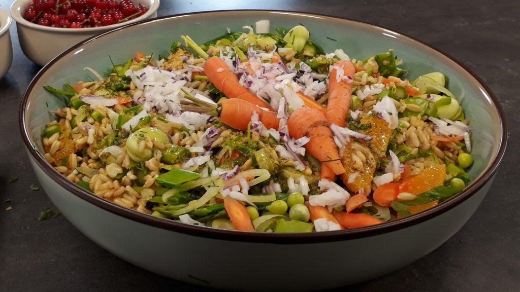 Graansalade met citrusdressing